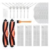 Substituições de 18 unidades para Xiaomi Mijia G1 Peças de aspirador de pó Acessórios Escova principal * 2 escovas laterais * 6 Filtro HEPA * 4 roupas de esfregão * 4 ferramentas de limpeza * 1 ferramenta de limpeza amarela * 1 Não original