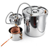 2/3/5/8GallonenMoonshineStillSpiritsSatz Wasser Alkohol Destiller Kupfer Tube Boiler Home Brewing Satz mit Klopfer Fass Edelstahl