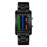 SKMEI 1103 Business Style LED Ekran Kol Saati Çelik Band Yaratıcı Stil Dijital Saat