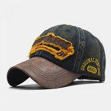 Erkekler Eski Pamuk Nakış Mektubu Vizör Günlük Beyzbol Şapka