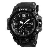 SKMEI 1155B militar Multi-función de alarma cronológica EL Light Impermeable al aire libre Sport Men Dual Digital Watch