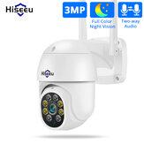Hiseeu WHD303 3MP caméra extérieure WIFI 1536p 5x Zoom numérique PTZ caméra Audio IP P2P système de vidéosurveillance sans fil surveillance CCTV OnVIF