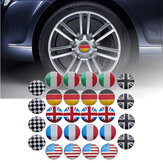4x 56 mm 3D-legering auto wiel Center Hub Cap Badge vlag embleem Sticker universeel