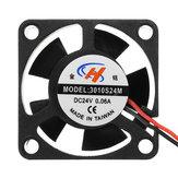 5pcs JGAURORA® 24V DC 30*30*10mm 3010 Cooling Fan for 3D Printer