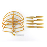 Hubsan H501S H501C Quadricóptero RC Sapre Peças Gold CW / CCW Propellers & Protection Cover Set