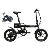 CMSBIKE F16 36V 7.8AH 250W Black 16 Inches Folding Electric Bicycle 20km/h 65KM Mileage Intelligent Variable Speed System