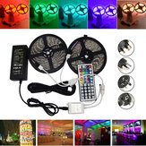 10M SMD 5050 Waterproof RGB 600 LED Strip Light + IR Controlador + Cabo Conector + Adaptador DC12V