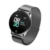 Bakeey R1 Monitoraggio del sonno della pressione arteriosa 9 Modalità sport IP67 Smart Watch in acciaio mesh con controllo della luminosità