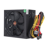 650W PC Computer Power Supply Module Unit 24Pin SATA Quiet Green LED Cooling Fan 14cm