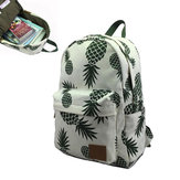 Outdoor Travel Bags Women Canvas Backpack Portable Casual Daily Pineapple Print School Book Bag