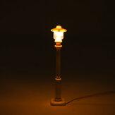 2 pcs Blanc Universel DIY LED Chaud Blanc Lumière Lampe Lampadaire Lanterne Pour Lego Street Building Shop Modèle