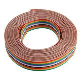 3 adet 5 M 1.27mm Pitch Şerit Kablo 16 P Düz Renk Gökkuşağı Şerit Kablo Tel Gökkuşağı Kablosu