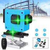 12 خط ليزر مستوى أخضر ضوء مقياس دوار 360 درجة ذاتي التسوية مع التحكم عن بعد