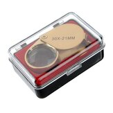 Golden 30 X 21mm Jeweler Loupe Magnifying Eye Glass Magnifier New
