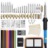 81 Adet Ahşap Yakma Kalem Set Stencil Lehimleme Demir İpuçları Aletler Pyrography Kit