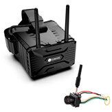 Eachine VR004 FPV Lunettes 4.3 Pouces 800x480 5.8Ghz 40CH 500lux Casque vidéo détachable avec DVR Replay 1200mAh Batterie