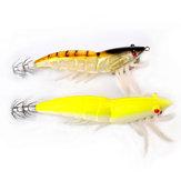 SRP-02-4.0g 92mm Luminous Double Hook Shrimp Fishing Lure Fishing Hard Prawn Lure Bait Night Light
