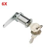 引き出しのドアのツールのための6個の亜鉛合金カムロックストレージキャビネットロックキー