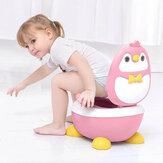Bambini Vasino pinguino Forma Urina antispruzzo Toilette portatile Altezza regolabile liberamente per la cura dei bambini