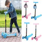 Scooter plegable brillante para niños Bicicleta sin pedales para niños pequeños al aire libre Juguete para montar con rueda intermitente para niños de 2 a 8 años