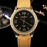 YAZOLE 359 damski zegarek kwarcowy z prawdziwej skóry