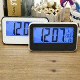 LCD Anzeigen Digital Wecker Sound kontrolliert mit Thermometer Hintergrundbeleuchtung Snooze
