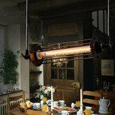 Промышленного ретро старинные флейты подвесной светильник кухни бар висит потолочный светильник
