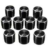 10Pcs Black Volume Control Knob For 6mm Knurled Shaft Potentiometer Rotary Knobs