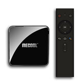 Mecool KM3 ATV S905X2 4 ГБ LPDDR4 64GB Android 10.0 5G WIFI BT4.0 Голосовое управление 4K HDR TV Box Сертифицированная Google Поддержка 4K Youtube Prime Video