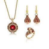 Роскошные украшения из красного кристалла для новобрачных на Женское