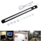 34cm DC5V 6W USB 24LED Strip Bar Light rígida Ímã Stick-on Desk Table Desk Cabinet Lamp