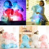 LED Perro Doll Stuff Toy Nightlight Peluche Toy Glow Pillow Soft Light Up Inductive Soft Doll