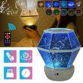 3 Estilos Colorful Starry Sky Light LED Projetor Música Romântico Lâmpada Night Light