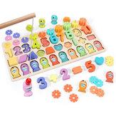3/4/5 в 1 деревянные номера & фрукты головоломки математика дети учатся образовательные игрушки набор