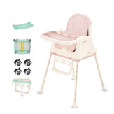 3 in1 Adjust Baby Comfortable High Chair Safe Feeding Highchair For Kids/Toddler