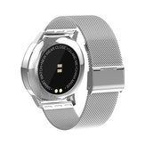Replacement Rustfrit stål Wristband Watch Band Strap for Newwear Q8 Smart Watch