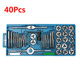 40Pcs Metric Tap Wrench and Die Pro Set M3-M12 Nut Bolt Alloy Metal Hand Tools