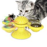 Вращающийся поворотный стол Кот Игрушка на присоске для домашних животных Игрушка для чистки животных Расческа для чистки зубов Игрушка-щ