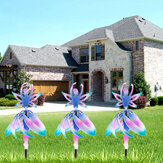 Metal Fairy Ballerina Wind Chimes Discoloration Ballet Spin Girl Wind Spinner Windmill Metal Sculptures for Patio Garden Yard Decor
