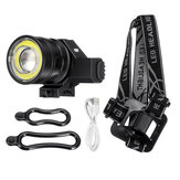 50000LM T6 COB LED Torcia ricaricabile Zoomable Bike Head Light lampada