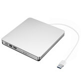 Silver USB3.0 DVD External Drive CD DVD-RW Player CD-RW Burners Optical Driver Writer DVD Writer Reader for PC Desktop Computer