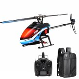 Everyine E160 6CH Dual Brushless 3D6G System Flybarless RC Helicopter RTF مع حقيبة ظهر