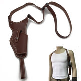 Mężczyźni Kobiety ukryte Carry Cowskin Genuine Leather CS Hunting Shoulder Gun Holster Bag Right Hand