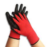 Gartenarbeitsschutz Nylon Handschuh 1 Paar Nitrilbeschichtete Arbeitshandschuhe Anti Skid Wear Resistant