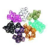 126 Teile RPG MTG Polyhedral Würfel 18 Sets mit Etui Taschen 18 Farben