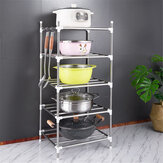 201 Stainless Steel 5 layers Landing Storage Rack for Home Kitchen Shelf Arrangement Tool