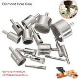 15Pcs 6-50mm Diamond Hole Saw Broca Bit Set 100 Grits Tile Cerâmico Glass Marble Broca Bits