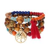 Bracelets perlés élastiques Ancien arbre de vie Ancien