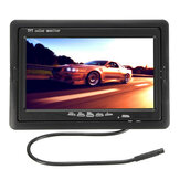 7 Inch Car Rear View TFT LCD Monitor + 170° Waterproof Reverse Back Parking Camera