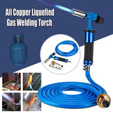 Electronic Ignition Full Copper Liquefied High Temperature Gas Welding Torch Kit + 3meters Tube